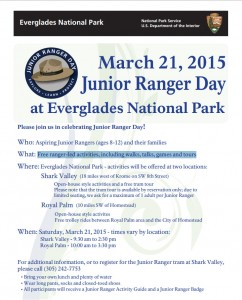 Junior Ranger Day 2015: Free ranger-led activities, including walks, talks, games and tours.